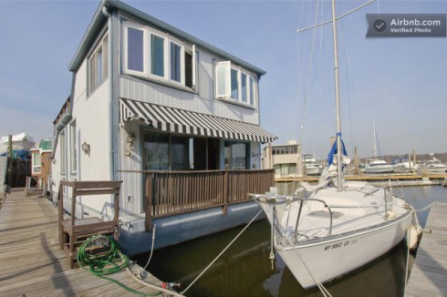 Ellen's housboat in Long Island she plans to rent out when she's upstate