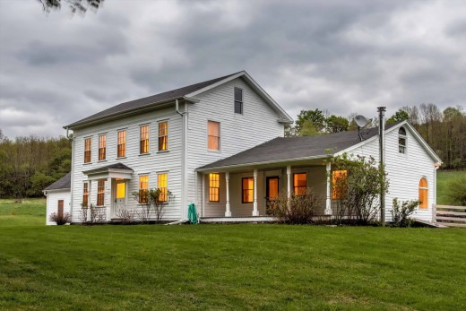 Catskills farmhouse with an old fashioned feel but modern for Old time farmhouse plans