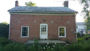 Intriguing c.1828 Brick Saltbox in the Catskills Countryside, $97,000
