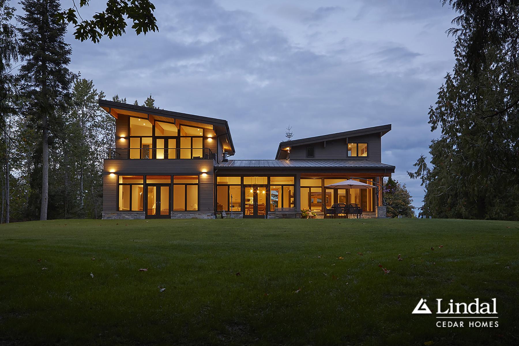 modern home with windows | lindal cedar homes