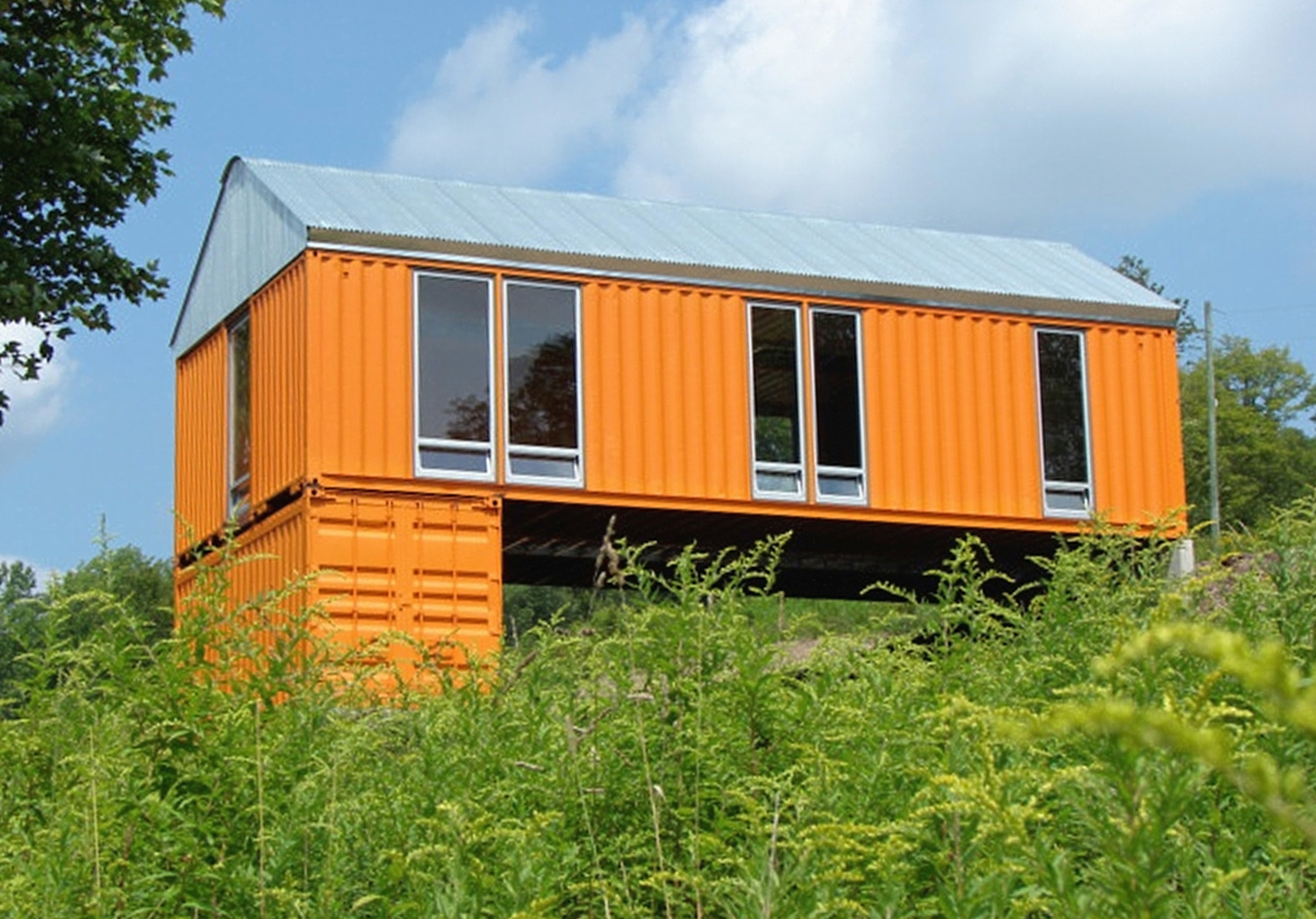 Catskills shipping container homes time steele new york times - Container homes com ...