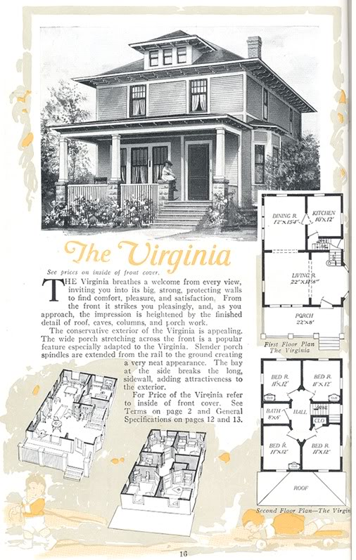 Four Squar House Design Of 1900s: Sears American Foursquare House Plans