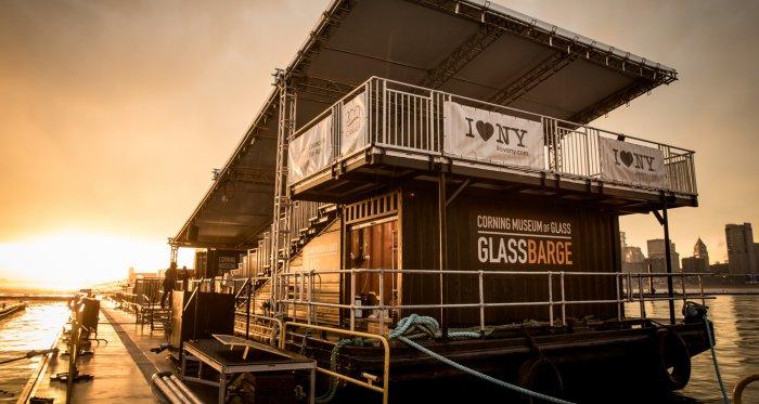corning glass barge hudson valley