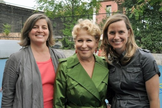 SCAPE and NYRP founder Bette Midler at the 103rd St. Community Garden in NYC (http://www.scapestudio.com)