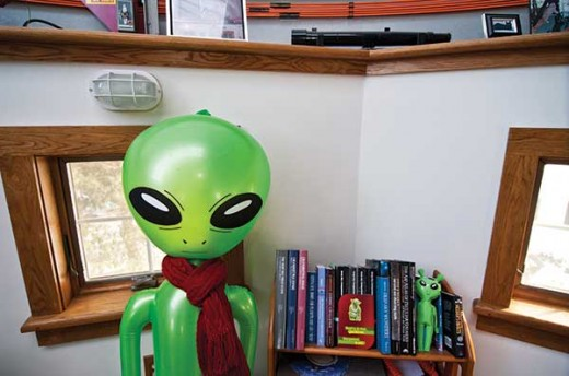 The Antols' home is filled with astronomy manuals, science fiction novels, and science-fiction collectibles. - DEBORAH DEGRAFFENREID