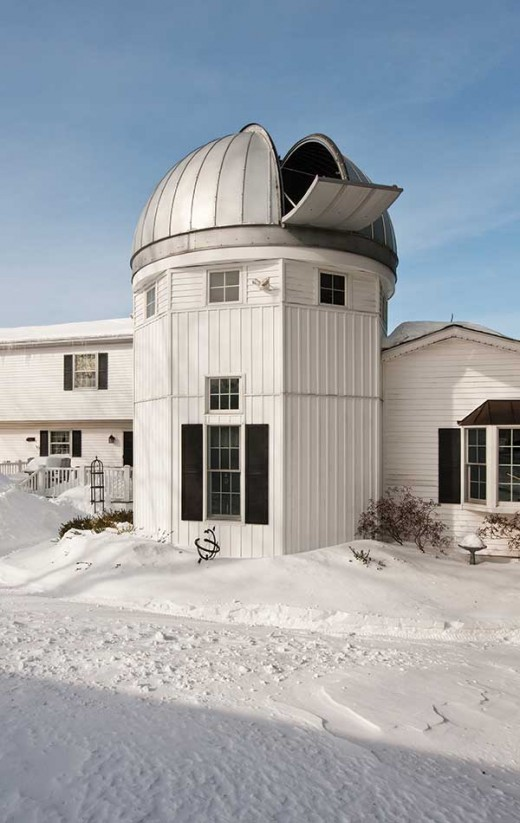 he Antols built an addition onto their home that is topped by an astronomical observatory.