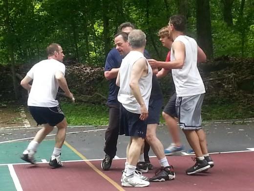 pine lake park basketball game