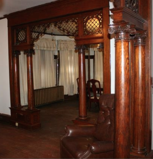 Amazing Woodworking: Amazing Woodwork In This Stone Two-Level, $169,000