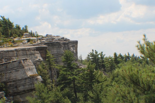 view of Gertrude's Nose in Minnewaska State Park