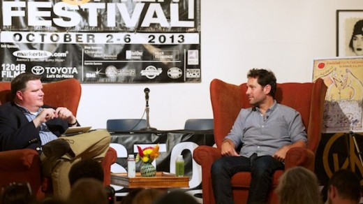 A Talk with Paul Rudd moderated by WAMC radio host Joe Donohue at 2013 Woodstock Film Festival. Photo: Tom Smith