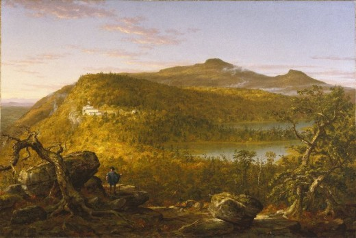 Brooklyn_Museum_-_A_View_of_the_Two_Lakes_and_Mountain_House,_Catskill_Mountains,_Morning_-_Thomas_Cole_-_overall