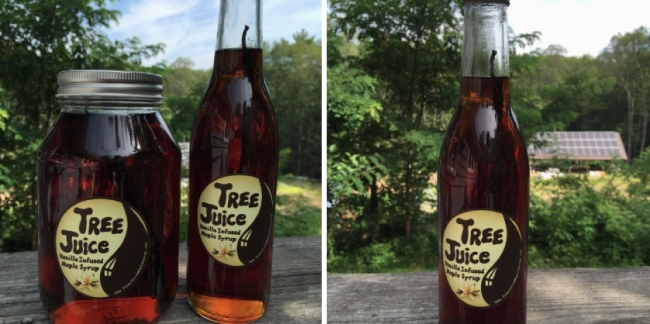 Bourbon Barrel Aged Maple Syrup and Vanilla Infused Maple Syrup