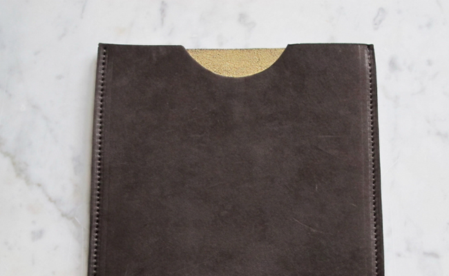 Gold Lined Calf Skinned iPad Case