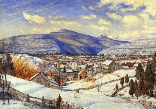 charles herbert moore winter landscape valley of the catskills