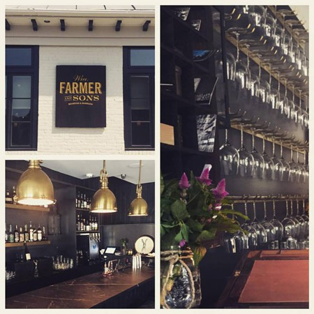 Wm Farmer & Sons offers casual dining and lodging in a newly renovated 1830s historic building