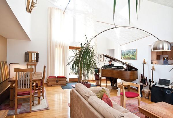 Zapanti creates much of his music in the living room. - DEBORAH DEGRAFFENREID