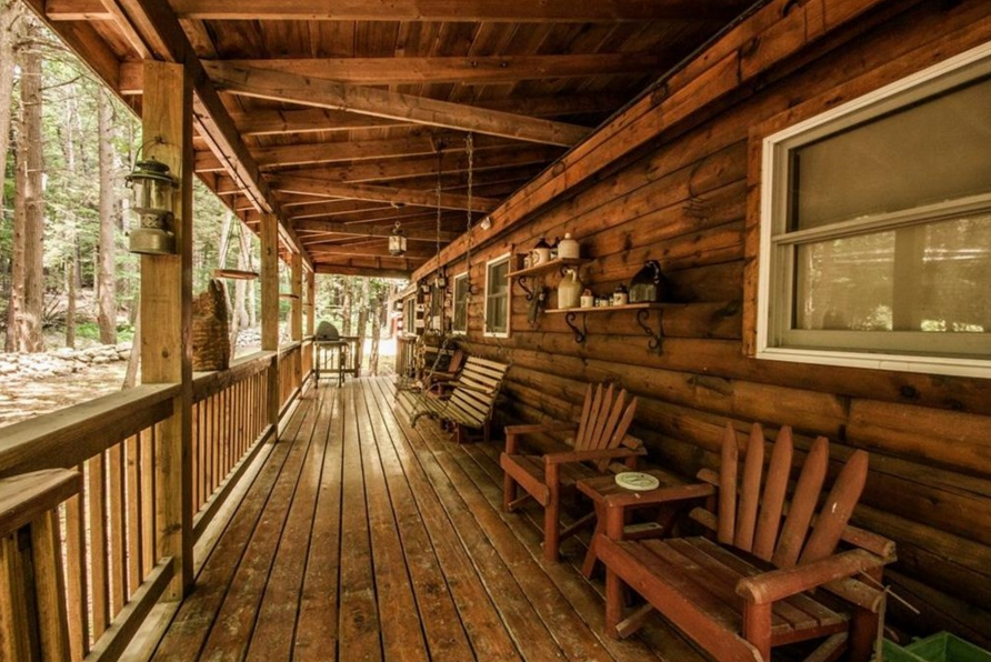 Fancy a Fancified Log Cabin in the Woods? Here's One in
