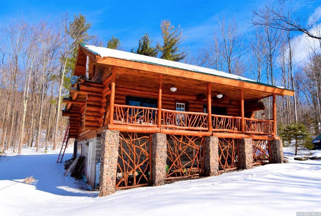 Fancified Log Cabin in the Northern Catskill Mountains, $399,000
