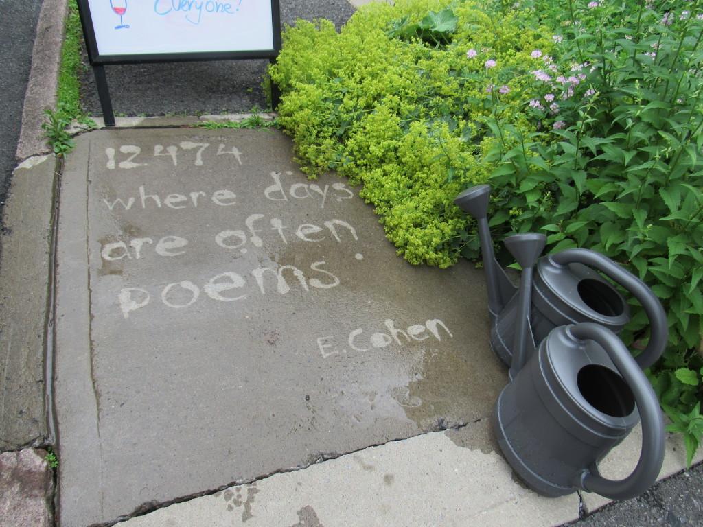 poem on sidewalk