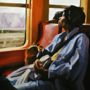 Lisbeth Fermin's painting Woman on a Train