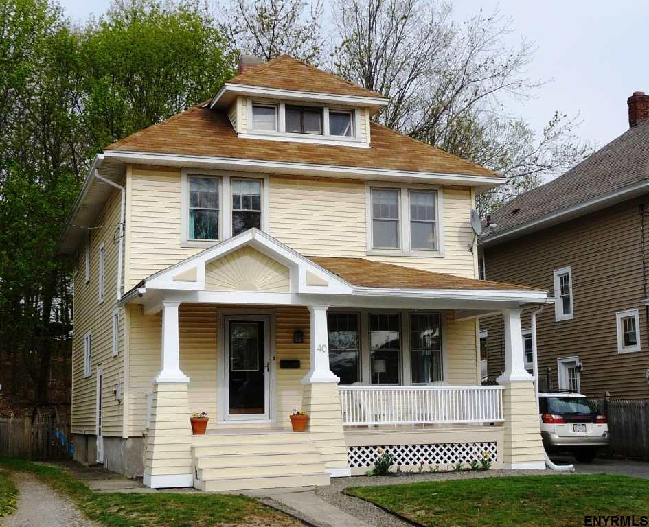 Troy Ny American Foursquare House For Sale Rensselaer County Ny
