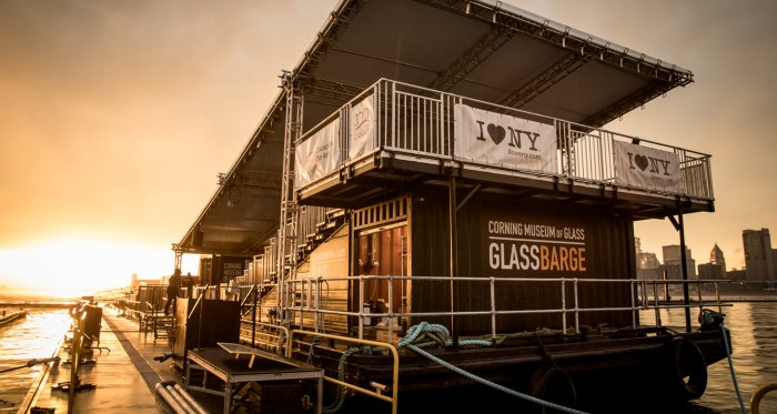 corning glass barge hudson valley