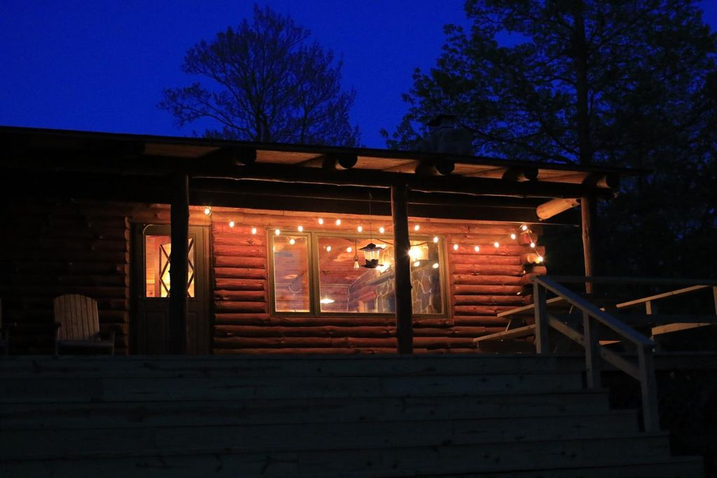 Delaware County Log Cabin with Three Bedrooms on 4 2 Acres