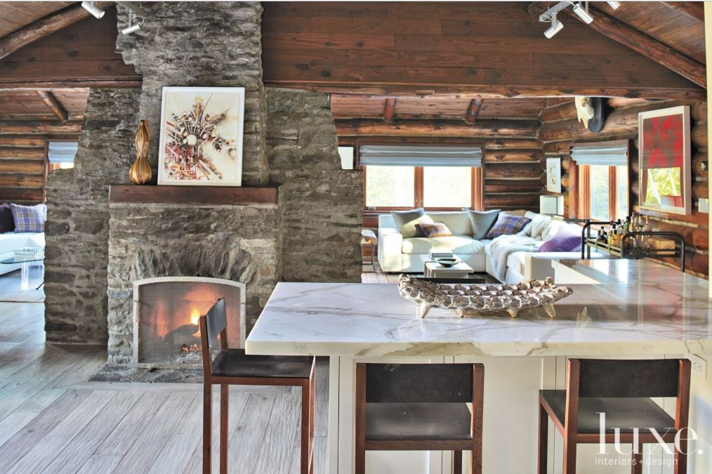 Woodstock Log Cabin With Rustic Roots Modern Renovation