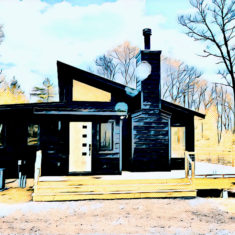 Rendering sketch of one of Catskill Farms ranches to be built in Saugerties